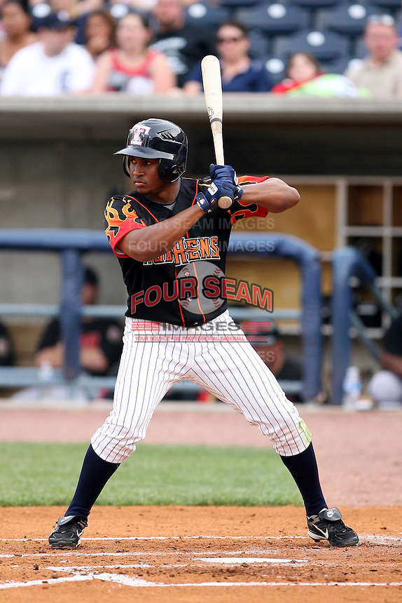 June 12th 2008:  Freddy Guzman of the Toledo Mudhens, Class-AAA affiliate of the Detroit Tigers, during a game at Fifth Third Field in Toledo, OH.  Photo by:  Mike Janes/Four Seam Images
