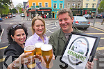 Pictured at the launch of Kenmare Beer on Wednesday Were Paul Walsh, P.F. McCarthys Bar, Siobain Jones, Coachmans Bar and Rose Curulli.