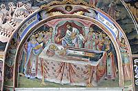 BG41200.JPG BULGARIA, RILA MONASTERY, CHURCH OF NATIVITY, frescoes