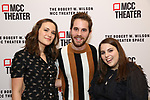 Francesca Carpanini, Ben Platt and Beanie Feldstein attends the opening night performance of the MCC Theater's 'Alice By Heart' at The Robert W. Wilson Theater Space on February 26, 2019 in New York City.