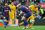 League Santander 2017/2018. Game: 28.<br /> FC Barcelona vs At. Madrid: 1-0.<br /> Rakitic vs Koke.