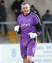 Forfar keeper Rab Douglas celebrates at the end of the game.