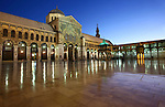 Umayyad Mosque, Damascus, Syria. The Umayyad Mosque  located in the old city of Damascus, is one of the largest and oldest mosques in the world, considered the fourth-holiest place in Islam. The mosque holds a shrine which today may still contain the head of John the Baptist, honored as a prophet by both Christians and Muslims.