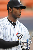 Outfielder Greg Golson (2) of the Scranton/Wilkes-Barre Yankees, International League affiliate of the New York Yankees, prior to a game against the Norfolk Tides on June 20, 2011, at PNC Park in Moosic, Pennsylvania. (Tom Priddy/Four Seam Images)