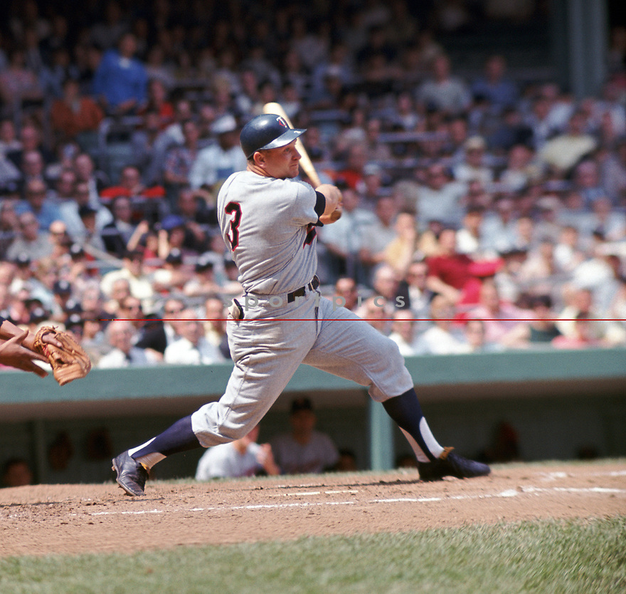 Minnesota Twins Harmon Killebrew(14) during a game from his 1966 season. Harmon Killebrew played for 21 years with 2 different teams was a 13-time All-Star, 1969 American League MVP and was inducted to the Baseball Hall of Fame in 1984.<br /> (SportPics)