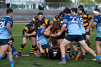 Action from the Horowhenua-Kapiti senior reserves club rugby union final between Foxton and College Old Boys at Levin Domain in Levin, New Zealand on Saturday, 28 July 2018. Photo: Dave Lintott / lintottphoto.co.nz