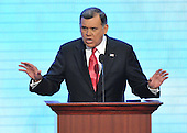 St. Paul, MN - September 4, 2008 -- United States Senator Mel Martinez (Republican of Florida) speaks on day 4 of the 2008 Republican National Convention at the Xcel Energy Center in St. Paul, Minnesota on Thursday, September 4, 2008..Credit: Ron Sachs / CNP.(RESTRICTION: NO New York or New Jersey Newspapers or newspapers within a 75 mile radius of New York City)