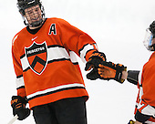 Kyle Rankin (Princeton - 19) - The Harvard University Crimson defeated the visiting Princeton University Tigers 5-0 on Harvard's senior night on Saturday, February 28, 2015, at Bright-Landry Hockey Center in Boston, Massachusetts.