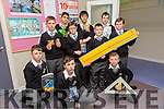 Launching maths week at Colaiste na Riochta, Listowel were l-r  Dylan Sloan, Michael Hickey, Nathan McCarthy, Dean Broderick, Matt Waloszek, Michael Hennessy and Killian Fealey. Back l-r  Simon Bajger, John Fokseang and Lee Loughlin