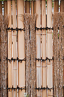 A bamboo fence detail