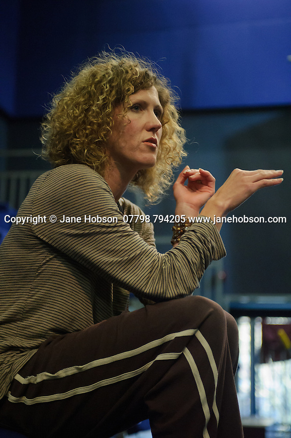 National Dance Company Wales in the studio at Dance House, Wales Millennium Centre, rehearsing FOLK, choreographed by artistic director, Caroline Finn, in preparation for their Spring Tour 2016. Picture shows: Caroline Finn, artistic director and choreographer.
