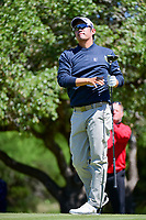 John Huh (USA) watches his tee shot on 2 during round 4 of the Valero Texas Open, AT&amp;T Oaks Course, TPC San Antonio, San Antonio, Texas, USA. 4/23/2017.<br /> Picture: Golffile | Ken Murray<br /> <br /> <br /> All photo usage must carry mandatory copyright credit (&copy; Golffile | Ken Murray)