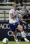 15 September 2011: Duke's Kelly Cobb. The Duke University Blue Devils defeated the College of Charleston Cougars 3-0 at Koskinen Stadium in Durham, North Carolina in an NCAA Division I Women's Soccer game.