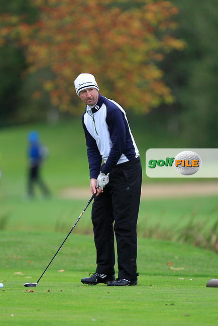 Eamonn Brady (Clontarf G.C) on the 15th tee during Round 4 of The Cassidy Golf 103rd Irish PGA Championship in Roganstown Golf Club on Sunday 13th October 2013.<br /> Picture:  Thos Caffrey / www.golffile.ie