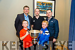 Tralee Warriors  celebration night after winning Champions Trophy at Meadowlands Hotel on Friday. Pictured l-r Mark O'Connor, Luke O'Mahony Back Jim Garvey, Joe O'Mahony and Paul O'Connor