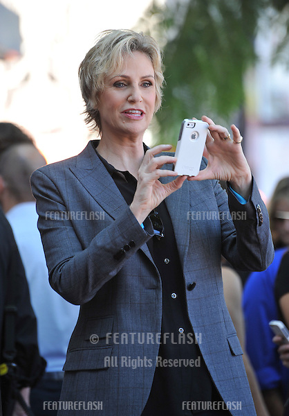 Glee star Jane Lynch on Hollywood Blvd where she was honored with the 2,505th star on the Hollywood Walk of Fame.<br /> September 4, 2013  Los Angeles, CA<br /> Picture: Paul Smith / Featureflash
