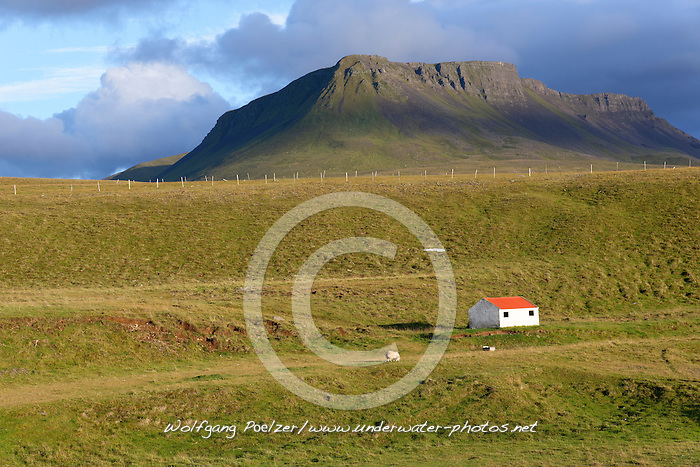 Naturlandschaft im Norden von Island, Countryside scenery in North Iceland