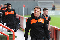 Blackpool's Myles Boney arrives<br /> <br /> Photographer Kevin Barnes/CameraSport<br /> <br /> Emirates FA Cup First Round - Exeter City v Blackpool - Saturday 10th November 2018 - St James Park - Exeter<br />  <br /> World Copyright &copy; 2018 CameraSport. All rights reserved. 43 Linden Ave. Countesthorpe. Leicester. England. LE8 5PG - Tel: +44 (0) 116 277 4147 - admin@camerasport.com - www.camerasport.com