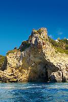 Sea Cave in the the cliffs of Paleokastritsa Corfu, Greek Ionian Islands