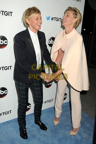 20 September 2014 - West Hollywood, California - Ellen DeGeneres, Portia de Rossi. ABC's &quot;Thank Good It's Thursday!&quot; Premiere Event for &quot;Grey's Anatomy&quot;, &quot;Scandal&quot;, &quot;How To Get Away With Murder&quot; held at Palihouse.  <br /> CAP/ADM/BP<br /> &copy;Byron Purvis/AdMedia/Capital Pictures