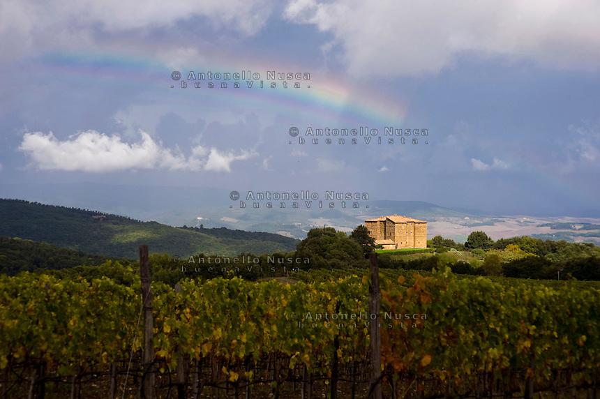 The Romitorio Castle in Montalcino.Il Castello Romitorio