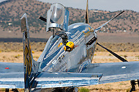 P-51 Mustang Unlimited Air Racer Precious Metal on the ramp at the 2011 Reno National Championship Air Races