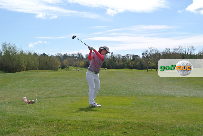 Ciara Casey (Hermitage) during Round 3 of The Irish Girls Open Strokeplay Championship in Roganstown Golf Club on Sunday 19th April 2015.<br /> Picture:  Thos Caffrey / www.golffile.ie