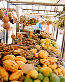 Brazil, Belem, South America, variety of Amazon fruit for sale at market in Belem