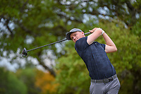 Adam Long (USA) watches his tee shot on 2 during day 1 of the Valero Texas Open, at the TPC San Antonio Oaks Course, San Antonio, Texas, USA. 4/4/2019.<br /> Picture: Golffile | Ken Murray<br /> <br /> <br /> All photo usage must carry mandatory copyright credit (© Golffile | Ken Murray)