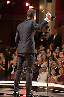 Sam Rockwell accepts the Oscar&reg; for Performance by an actor in a supporting role, for his role in &ldquo;Three Billboards Outside Ebbing, Missouri&rdquo; during the live ABC Telecast of The 90th Oscars&reg; at the Dolby&reg; Theatre in Hollywood, CA on Sunday, March 4, 2018.<br /> *Editorial Use Only*<br /> CAP/PLF/AMPAS<br /> Supplied by Capital Pictures