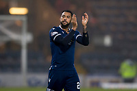 1st November 2019; Dens Park, Dundee, Scotland; Scottish Championship Football, Dundee Football Club versus Greenock Morton; Kane Hemmings of Dundee applauds the fans at the end of the match - Editorial Use