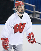Jack Skille - The University of Wisconsin Badgers skated Saturday morning, April 8, 2006, at the Bradley Center in Milwaukee, Wisconsin, before defeating Boston College that evening for the Title.