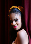 Storm Lever during her  Broadway Debut Photo Shoot at the Lunt-Fontanne Theatre on June 26, 2018 in New York City.