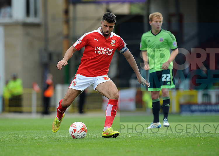 Yaser Kasim of Swindon Town<br /> - English League One - Swindon Town vs Sheffield Utd - County Ground Stadium - Swindon - England - 29th August 2015