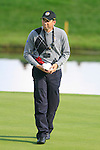 Sergio Garcia holds the sandwiches during Practice Day 1 at the 2010 Ryder Cup at the Celtic Manor Twenty Ten Course, Newport, Wales, 28th September 2010..(Picture Eoin Clarke/www.golffile.ie)