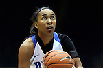 05 November 2015: Duke's Oderah Chidom. The Duke University Blue Devils hosted the Pfeiffer University Falcons at Cameron Indoor Stadium in Durham, North Carolina in a 2015-16 NCAA Women's Basketball Exhibition game. Duke won the game 113-36.