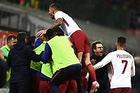 Milano 01-10-2017 Stadio Meazza San Siro Football Calcio 2017/2018 Serie A Milan - Roma foto Matteo Gribaudi/Image Sport/Insidefoto <br /> nella foto: esultanza gol Edin Dzeko Roma Goal celebration