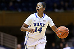 28 November 2014: Duke's Ka'lia Johnson. The Duke University Blue Devils hosted the Stony Brook University Seahawks at Cameron Indoor Stadium in Durham, North Carolina in a 2014-15 NCAA Division I Women's Basketball game. Duke won the game 72-42.
