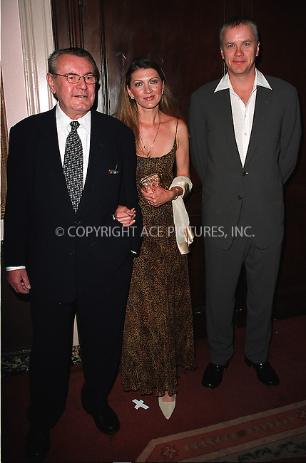 (L to R) Milos Forman, his wife and Tim Robbins arrive at Waldorf-Astoria for the 3rd Annual Directors Guild of America Awards. New York, June 9, 2002. Please byline: Alecsey Boldeskul/NY Photo Press.   ..*PAY-PER-USE*      ....NY Photo Press:  ..phone (646) 267-6913;   ..e-mail: info@nyphotopress.com