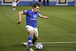 09 December 2011: Creighton's Ethan Finlay (16). The Creighton University Bluejays played the University of North Carolina Charlotte 49ers to a 0-0 overtime tie, the 49ers won the penalty shootout 4-1 to advance at Regions Park in Hoover, Alabama in an NCAA Division I Men's Soccer College Cup semifinal game.