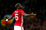 Paul Pogba of Manchester United reacts during the UEFA Europa League Quarter Final 2nd Leg match at Old Trafford, Manchester. Picture date: April 20th, 2017. Pic credit should read: Matt McNulty/Sportimage
