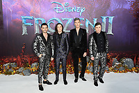 "LONDON, UK. November 17, 2019: Collabro arriving for the ""Frozen 2"" European premiere at the BFI South Bank, London.<br /> Picture: Steve Vas/Featureflash"