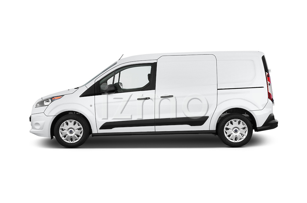 Car Driver side profile view of a 2015 Ford Transit Connect XLT 4 Door Car Van Side View