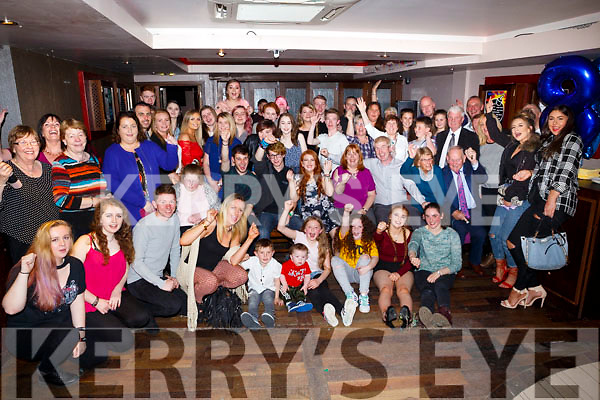 Niamh O' Regan, Monalee, Tralee, celebrates her 18th birthday with family and friends at the Abbey Inn on Saturday
