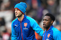 Jack Wilshere of Arsenal leans on Danny Welbeck of Arsenal  during AFC Bournemouth vs Arsenal, Premier League Football at the Vitality Stadium on 14th January 2018