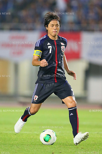 Yasuhito Endo (JPN), AUGUST 14, 2013 - Football / Soccer : <br /> KIRIN Challenge Cup 2013 match <br /> between Japan 2-4 Uruguay <br /> at Miyagi Stadium, Miyagi, Japan.<br />  (Photo by AFLO SPORT)