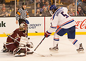 Joe Woll (BC - 31), Joe Gambardella (UML - 5) The University of Massachusetts-Lowell River Hawks defeated the Boston College Eagles 4-3 to win the 2017 Hockey East tournament at TD Garden on Saturday, March 18, 2017, in Boston, Massachusetts.