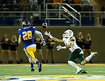 BROOKINGS, SD - SEPTEMBER 17: JJ Koski	 #6 from Cal Poly dives for the ball past Chris Balster #28 from South Dakota State University in the second half of their game Saturday night at the Dana J. Dykhouse Stadium in Brookings. (Photo by Dave Eggen/Inertia)
