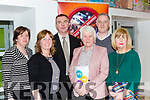 Minister Catherine Byrne with the KDYS Killarney who gave her their Stragedic plan on her visit  last friday  l-r: Rose O'Connor, Assumpta Sweeney, Tim O'Donoghue, gemma O'brien and Des Bailey