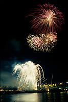File photo circa 1987 Montreal (Qc) CANADA - Fireworks at La Ronde